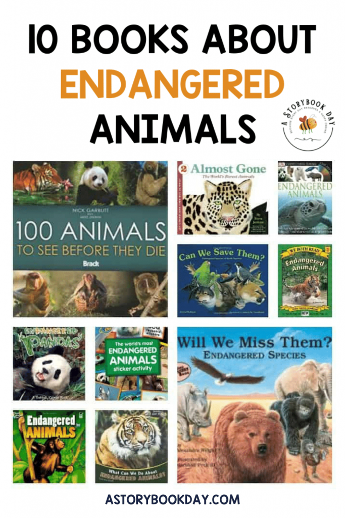 10 Books to Read about Endangered Animals @ aStorybookDay.com