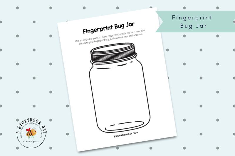 Free Printable Fingerprint Bug Jar @ aStorybookDay.com
