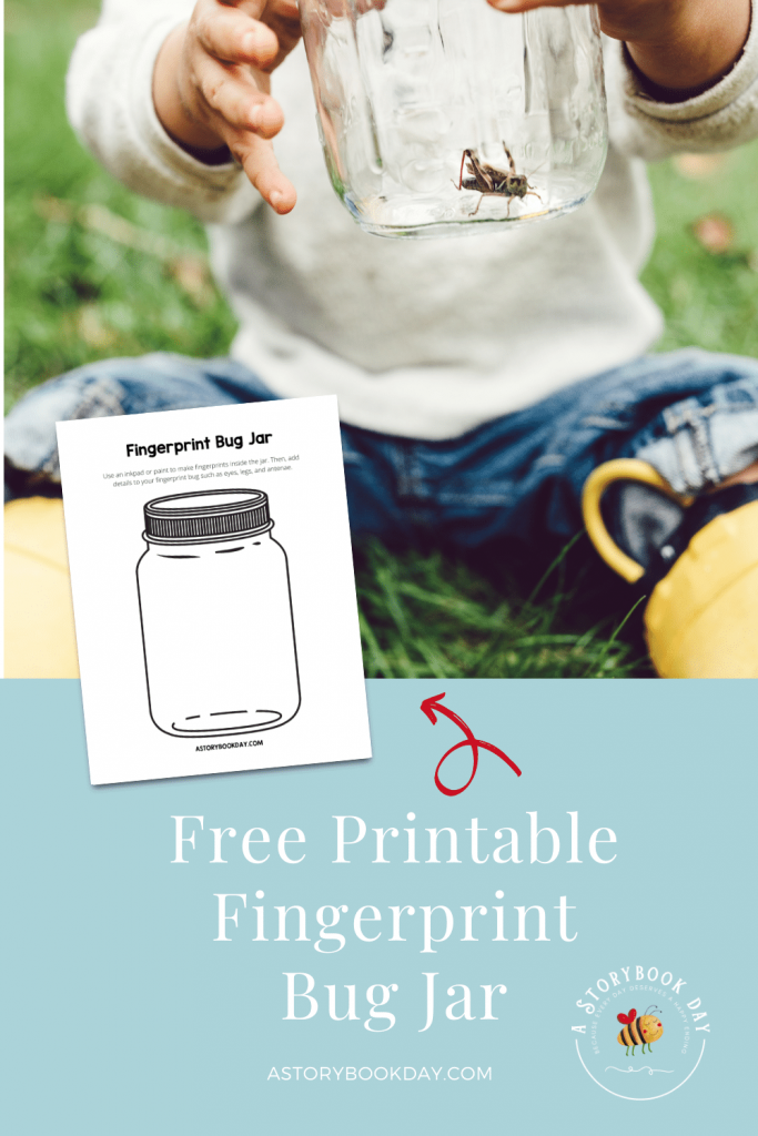 Free Printable Fingerprint Bug Jar @ aStorybookDay.com