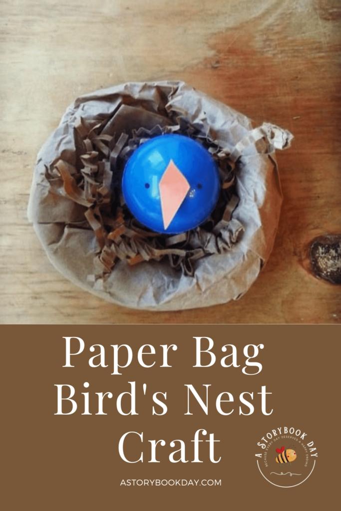 Paper Bird's Nest Craft @ aStorybookDay.com