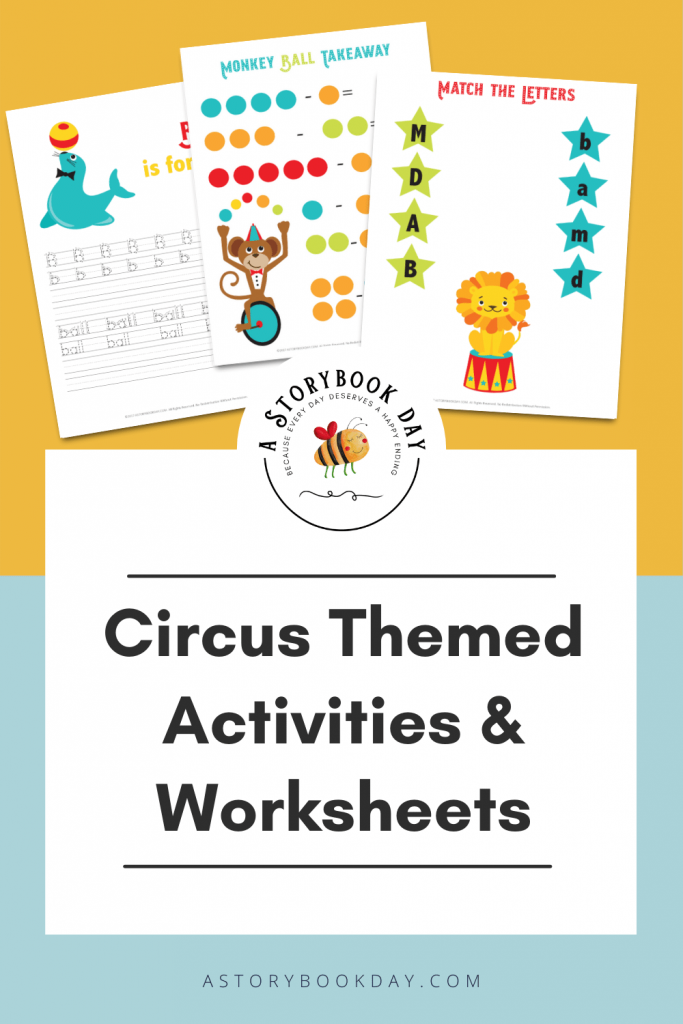 Circus Themed Activities and Worksheets @ aStorybookDay.com