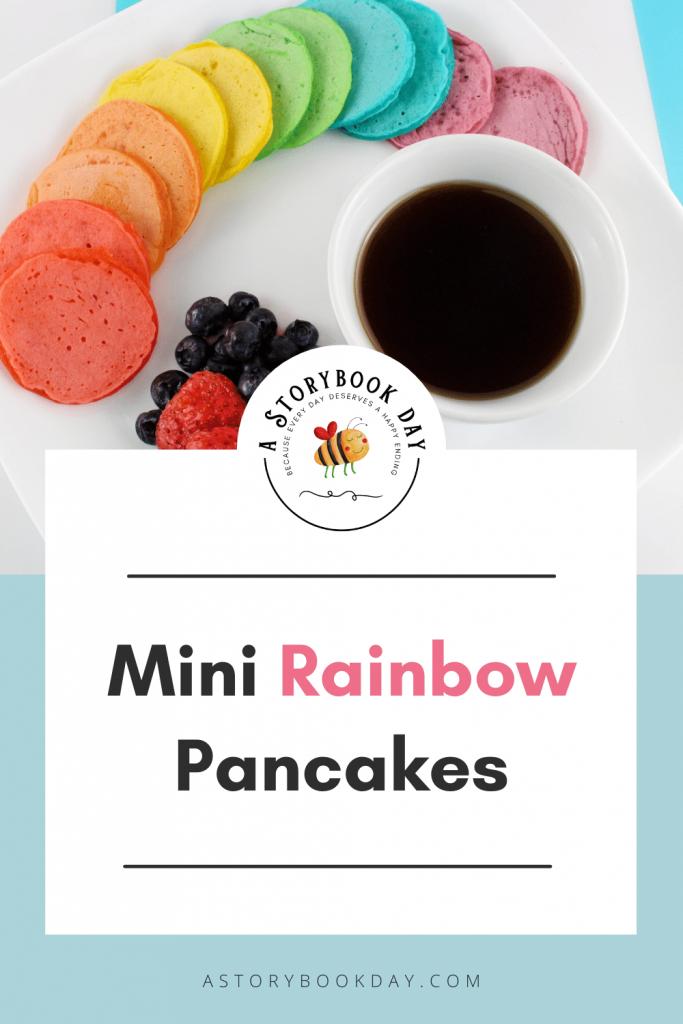 Mini Rainbow Pancakes @ aStorybookDay.com