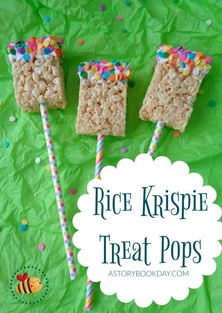 Rice Krispie Treat Pops @ AStorybookDay.com