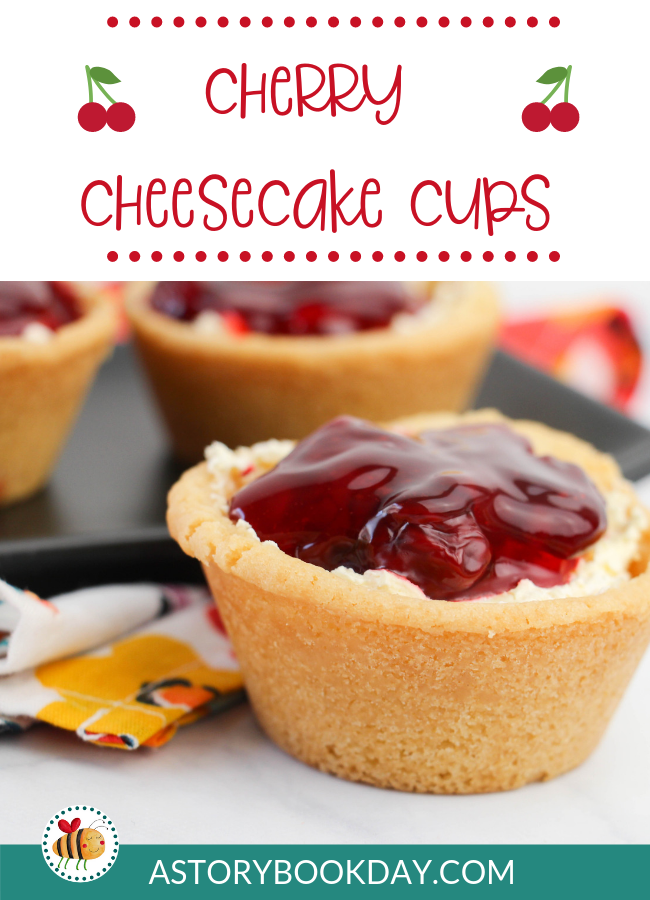 Cherry Cheesecake Cups @ AStorybookDay,com