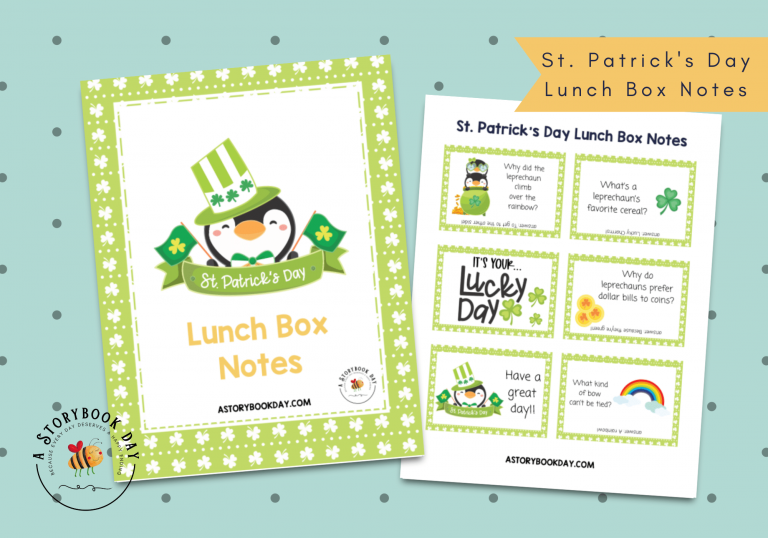 St. Patrick's Day Lunch Box Notes | Free Printable