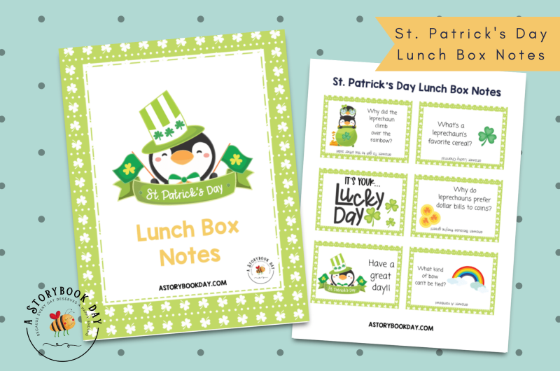 St. Patrick's Day Lunch Box Notes | Free Printable @ aStorybookDay.com