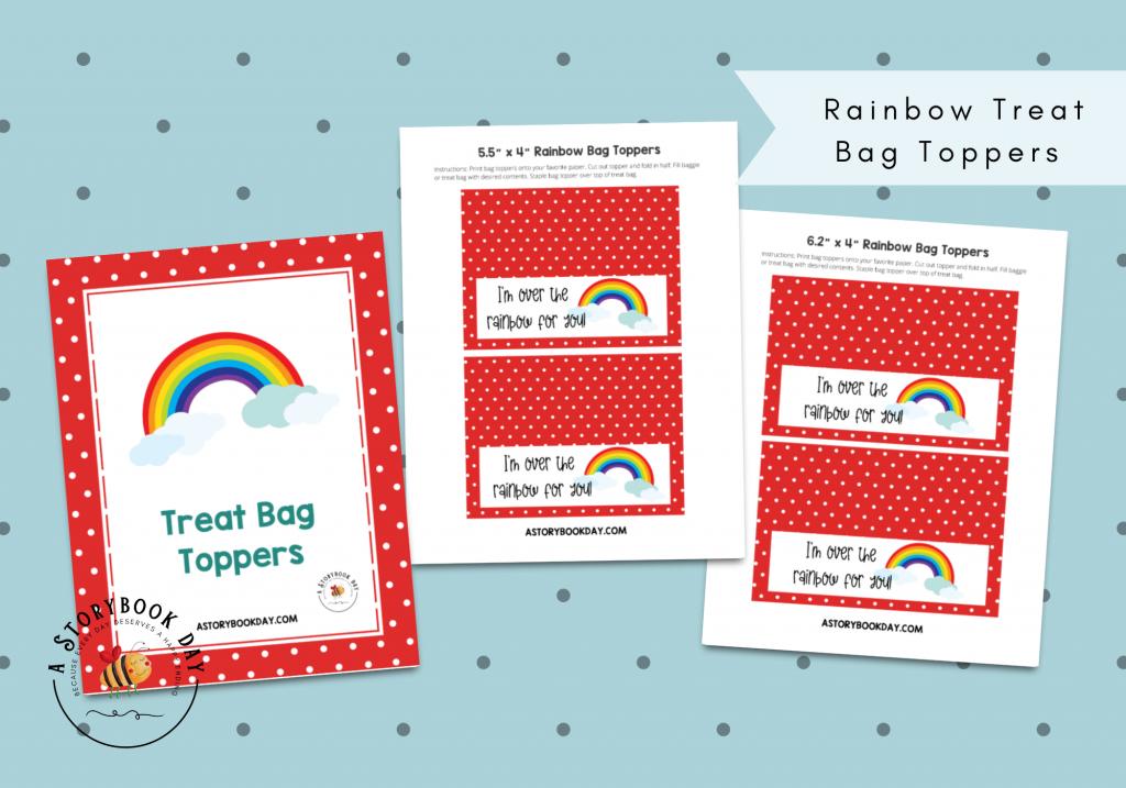 Rainbow Treat Bag Toppers @ aStorybookDay.com