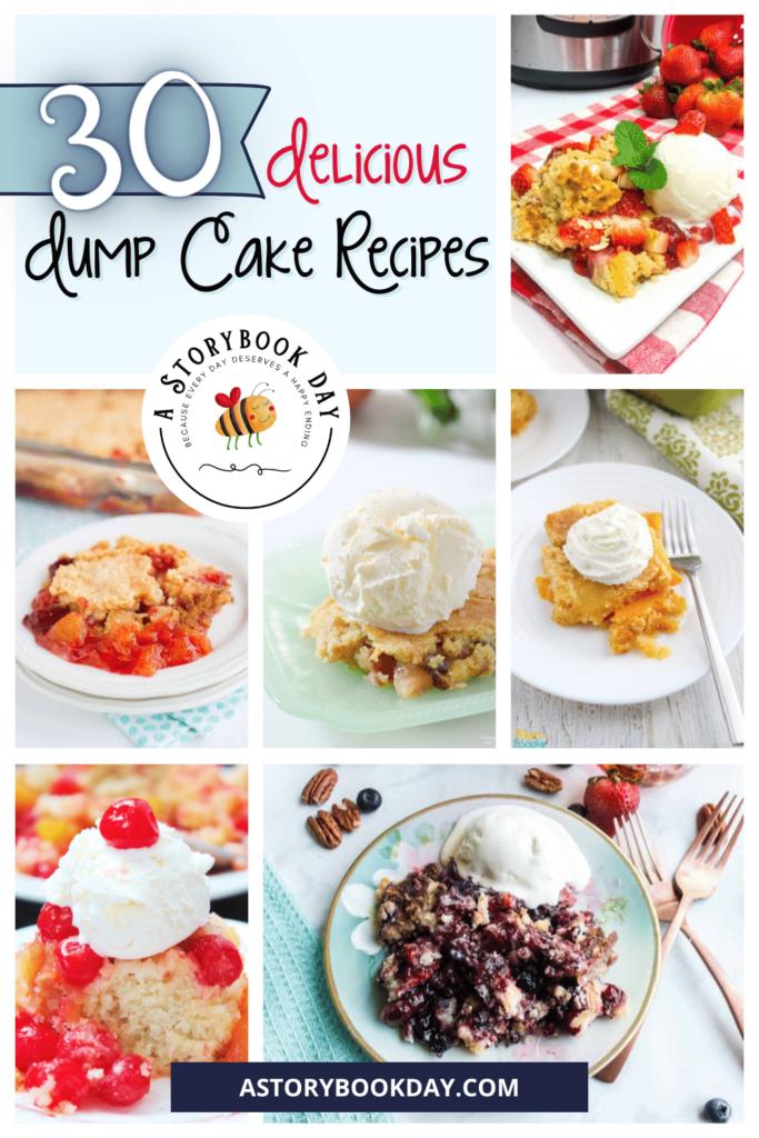 30 Delicious Dump Cake Recipes @ aStorybookDay.com