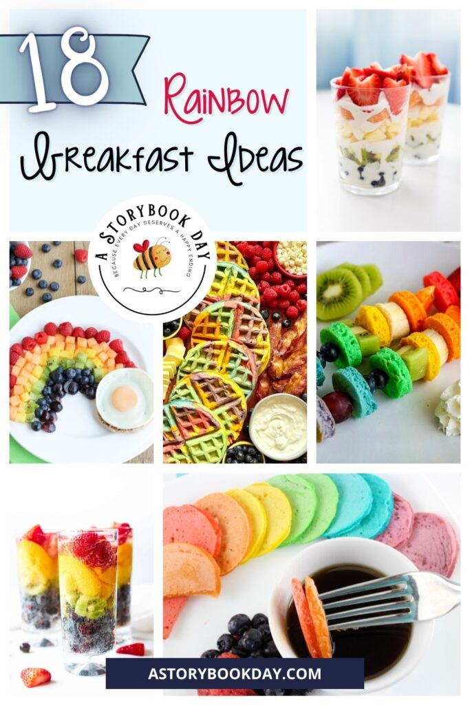 Rainbow Breakfast Ideas @ aStorybookDay.com
