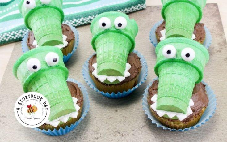 Fun Alligator Cupcakes Your Kids Will Love! @ aStorybookDay,com
