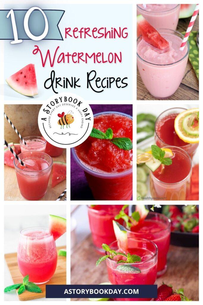 10 Refreshing Watermelon Drink Recipes @ aStorybookDay.com