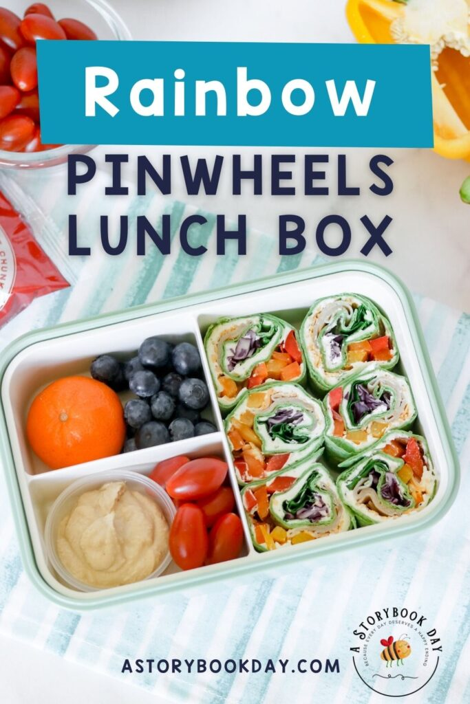Rainbow Tortilla Pinwheels Lunch Box @ aStorybookDay.com